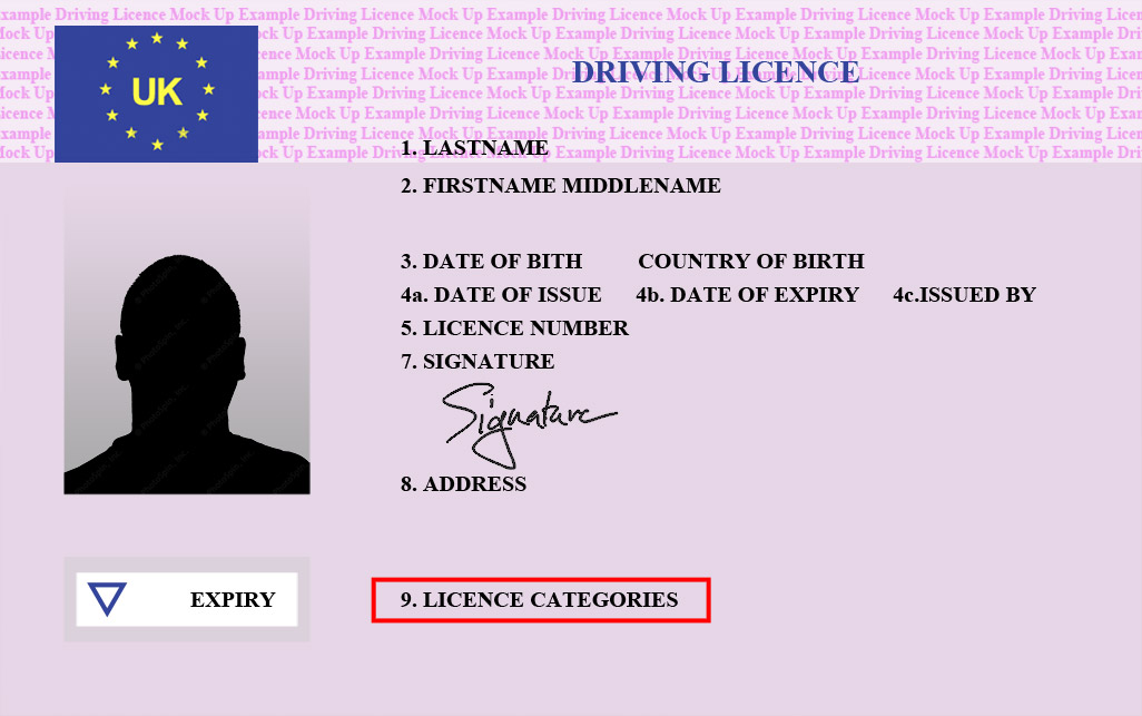 drivers license number on card uk