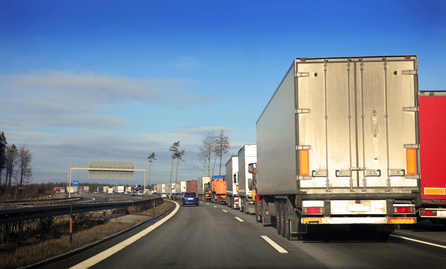 Channel Tunnel Photo of Lorry Queue
