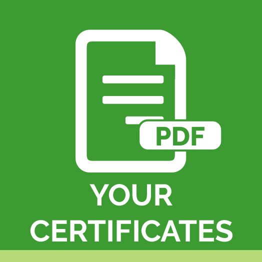 UK Driver New Icon YOur Certificates